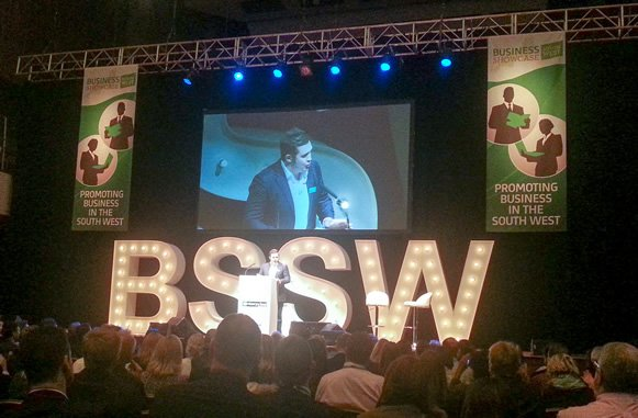 Conference staging at the Business Showcase South West 2014