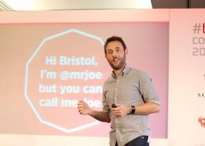 Mr Joe speaking at Bristech 2015